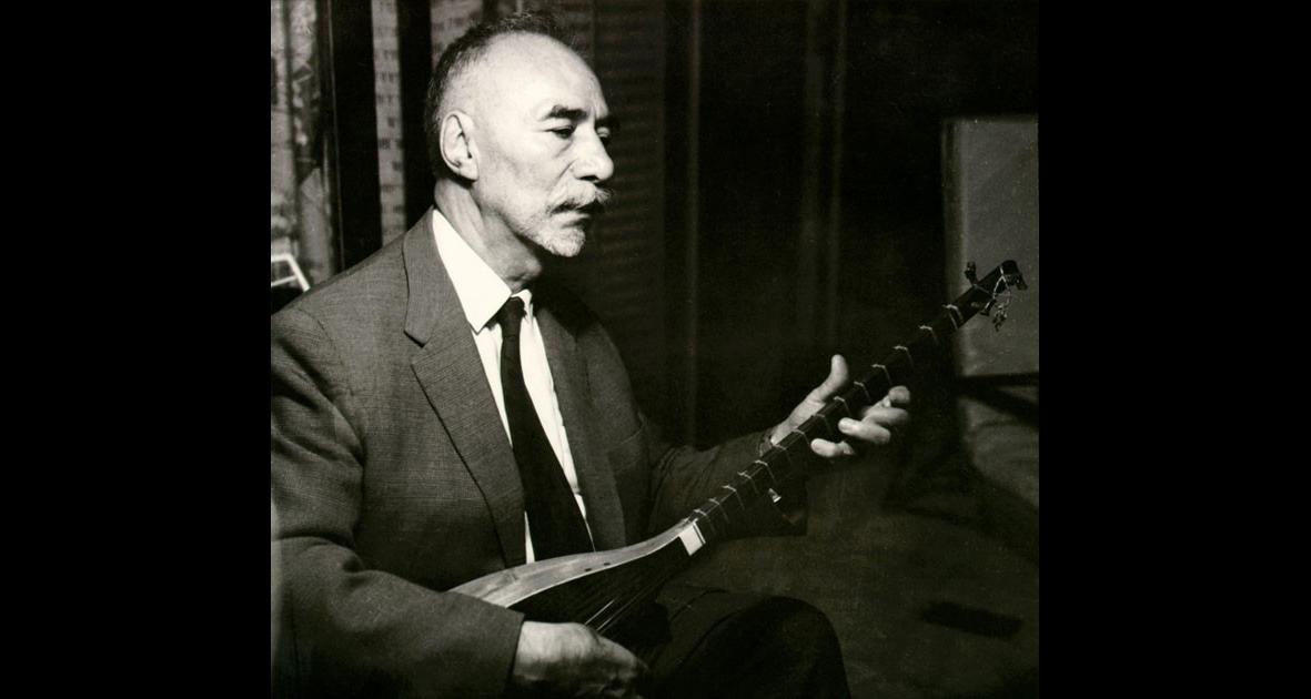 1966 Ostad Elahi playing the tanbur