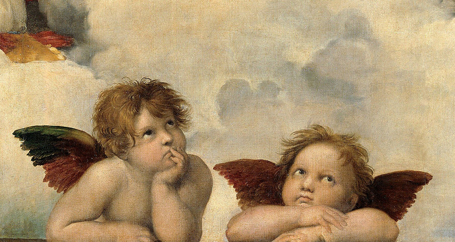 Rafael, Madonna Sixtina - détail